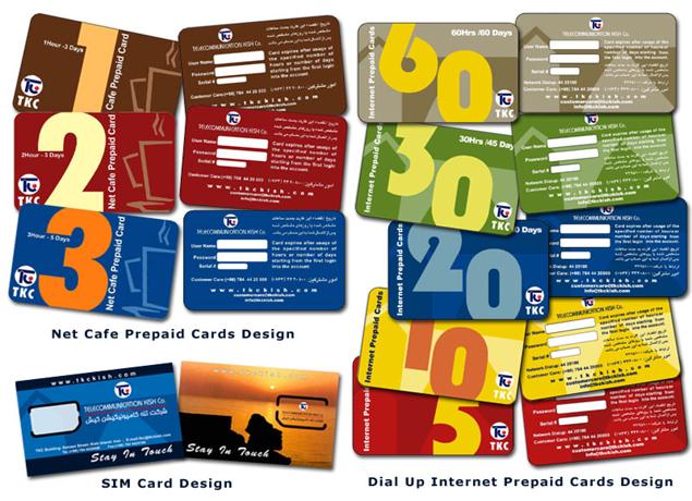 خدمات گرافیکی و طراحی کارت تلفن،کارت اینترنت و سیم کارت TKC