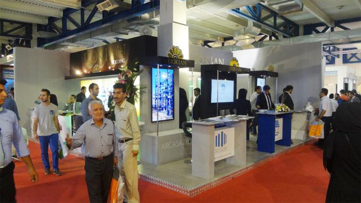 طراحی و غرفه سازی- هلدینگ لیوکیان در نمایشگاه صنعت ساختمان تهران