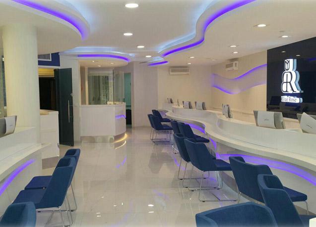 طراحی و اجرای دکوراسیون آژانس هواپیمایی رز آبی