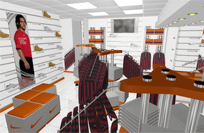 طراحی و اجرای دکور فروشگاه نایک کیش تجریش