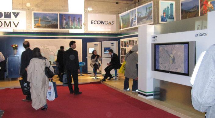 طراحی غرفه نمایشگاهی شرکت OMV اتریش در نمایشگاه نفت و گاز تهران