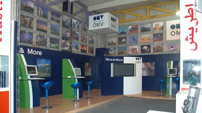 طراحی و ساخت غرفه نمایشگاهی شرکت OMV اتریش در نمایشگاه نفت و گاز تهران