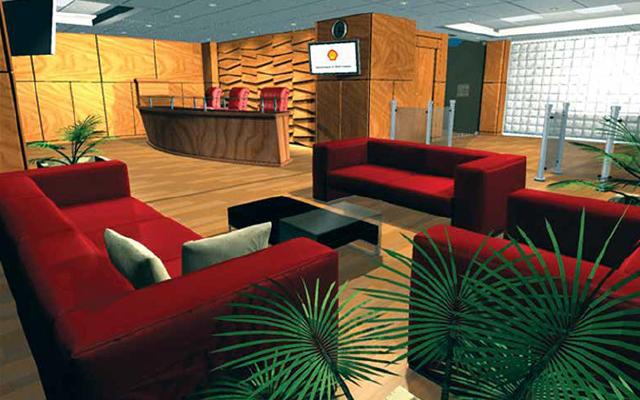 طراحی و اجرای دکوراسیون لابی ساختمان شل