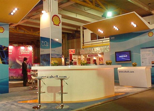 طراحی و ساخت غرفه نمایشگاهی شرکت شل در نمایشگاه نفت و گاز تهران