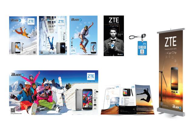 خدمات گرافیکی و طراحی پوستر و بنرهای تبلیغاتی موبایل ZTE