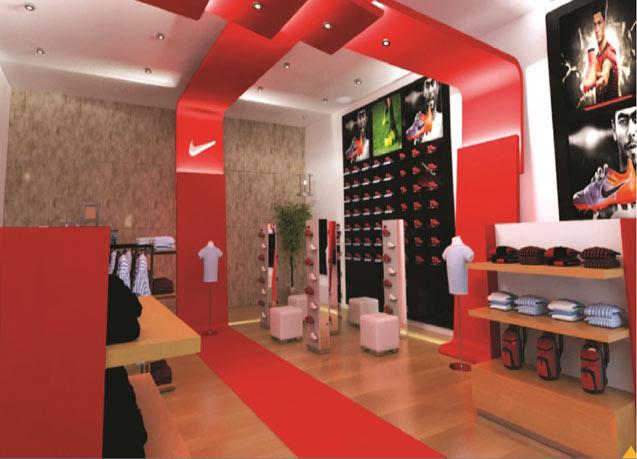 طراحی و اجرای دکور فروشگاه نایک کیش