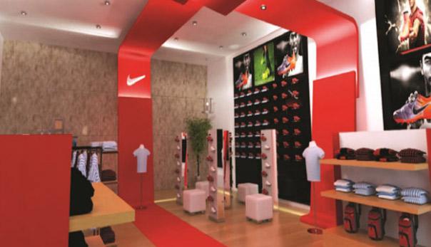 دکوراسیون و معماری فروشگاه نایک